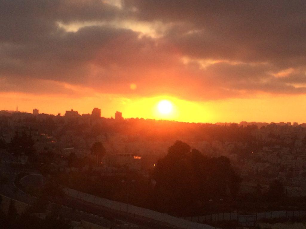זריחת השמש ירושלים