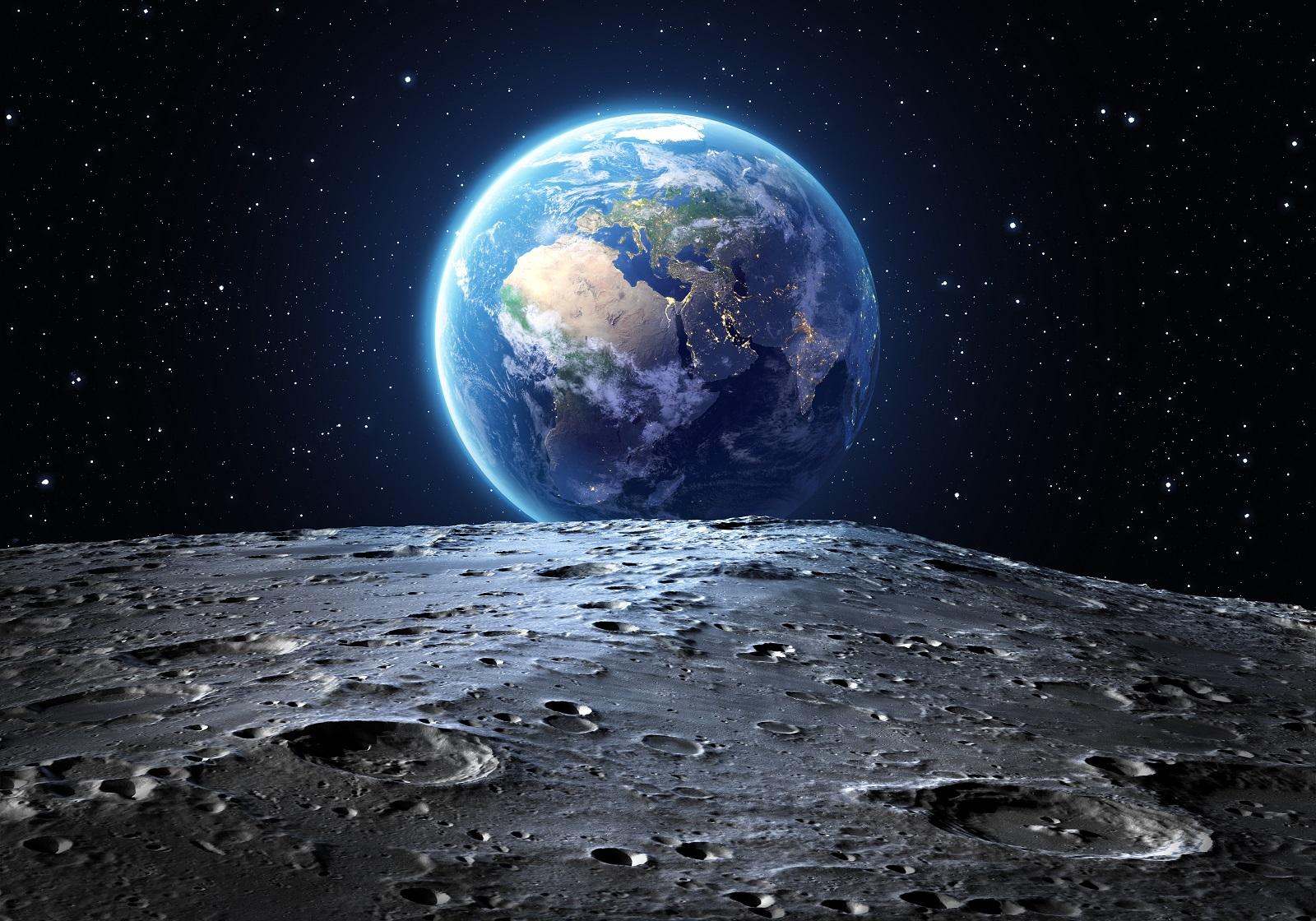 כדור הארץ כפי שנראה מפני הירח